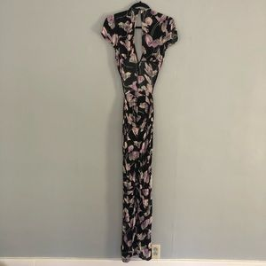 Reformation Jumpsuit Cutout Floral size 2 X-Small